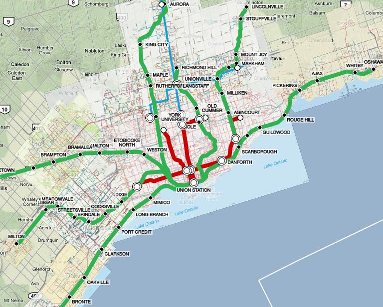 Toronto Subway Map Overlay